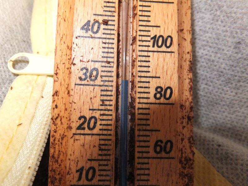 マットの再発酵温度
